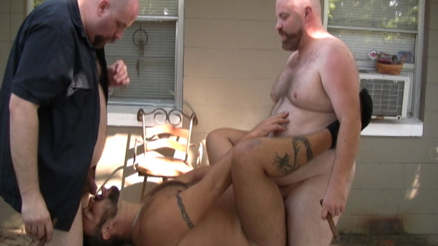 Bear Films Gay Bear Sex Budd Lawson, Bud Stiffy and Boswell Bear